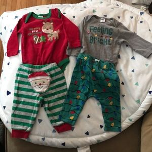 2 Christmas outfits gender neutral